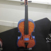 donated painted violin by Doug Shafer at Gallery 903 reception Portland